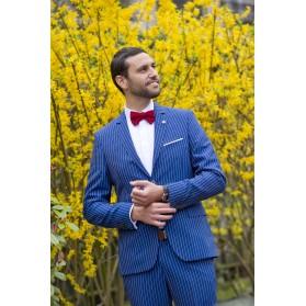 costume Louis Feraud bleu rayure tennis